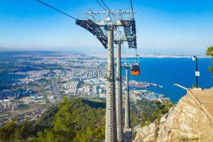 Tunektepe Cableway in Antalya, Turkey